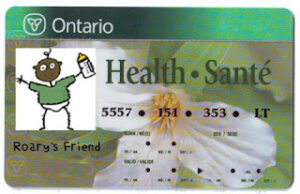 Ontario Health Card copy